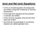ionic and net ionic equations
