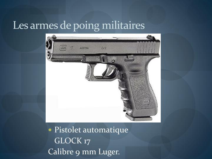 Les armes de poing militaires