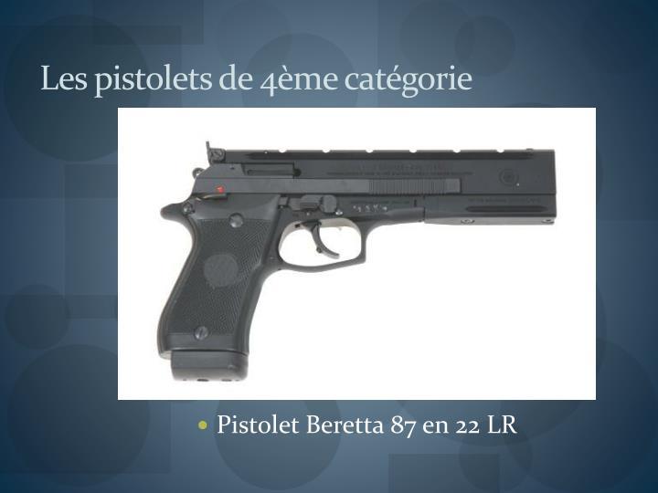 Les pistolets de 4ème catégorie
