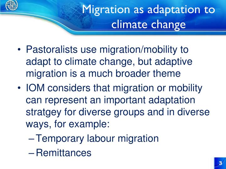 Migration as adaptation to climate change