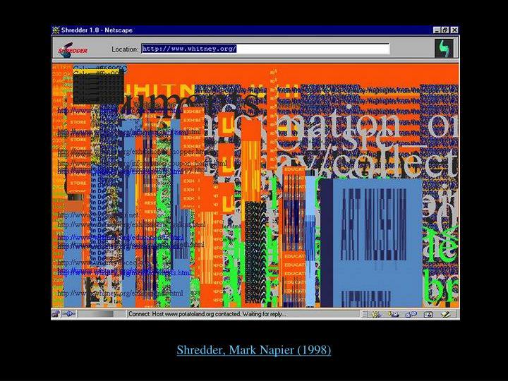 Shredder, Mark Napier (1998)