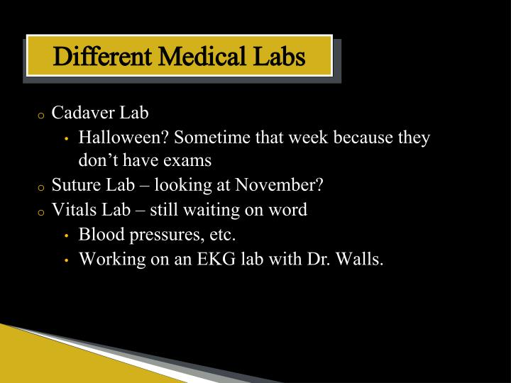 Different Medical Labs