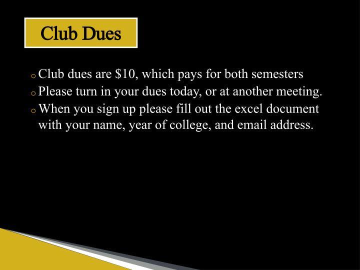 Club Dues