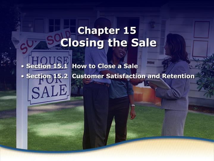 how to close a sale n.