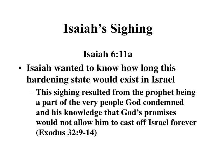 Isaiah's Sighing