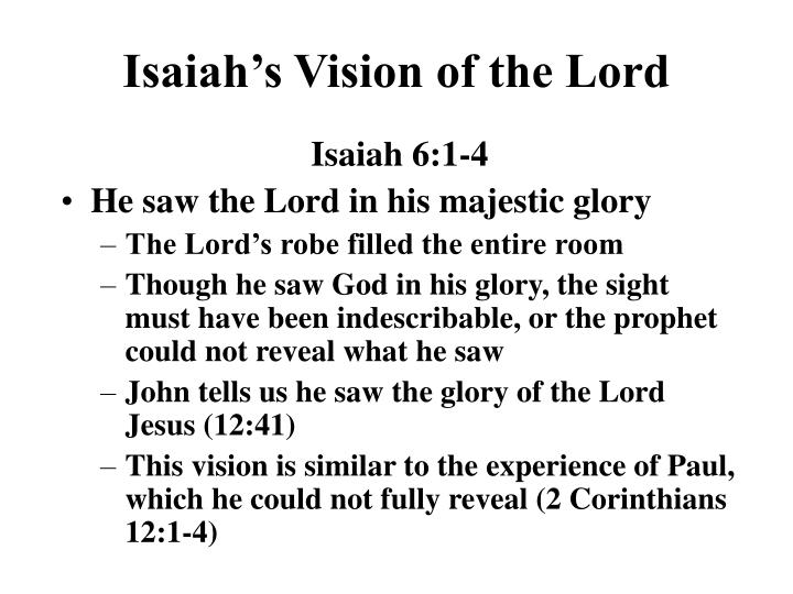 Isaiah s vision of the lord
