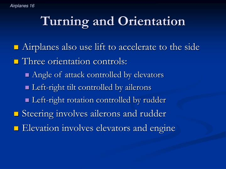 Turning and Orientation