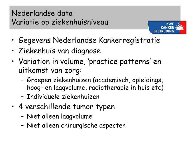 Nederlandse data