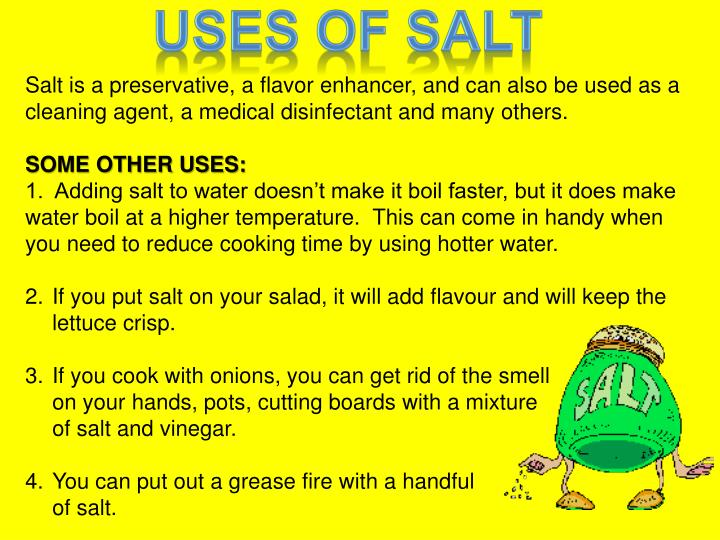 does salt make the water boil faster