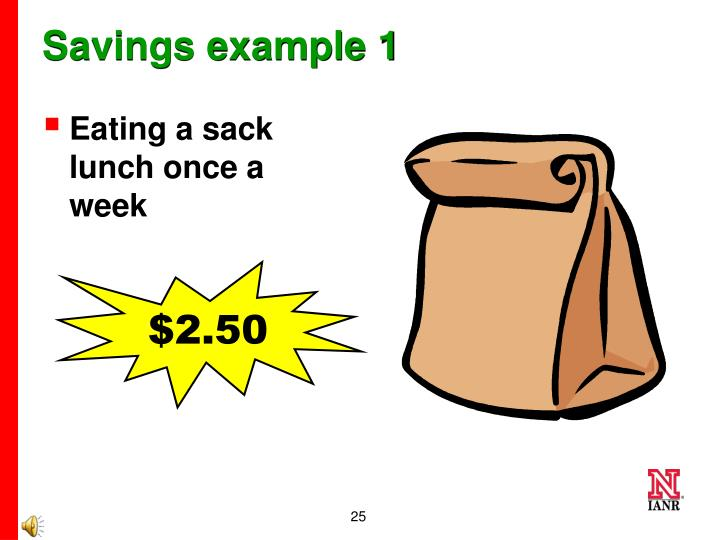 Savings example 1