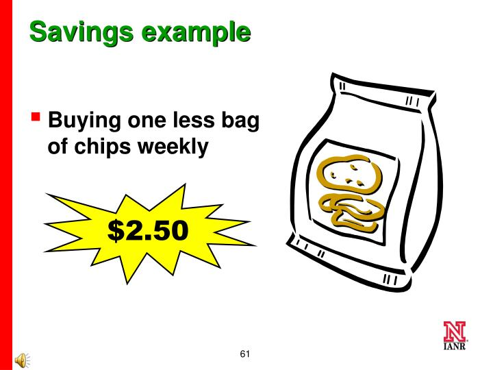 Savings example