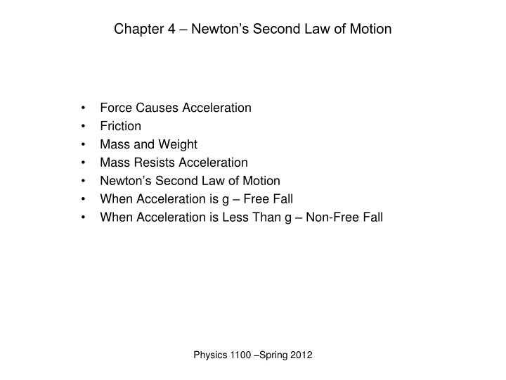 chapter 4 newton s second law of motion n.