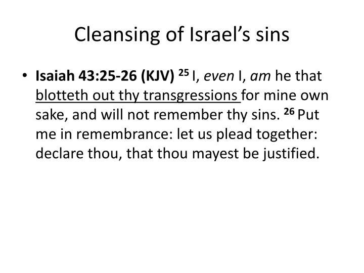 Cleansing of Israel's sins