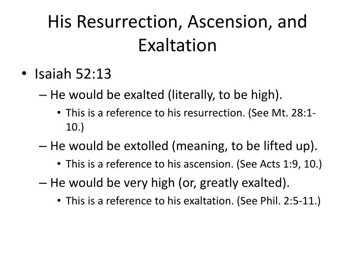 His Resurrection, Ascension, and Exaltation