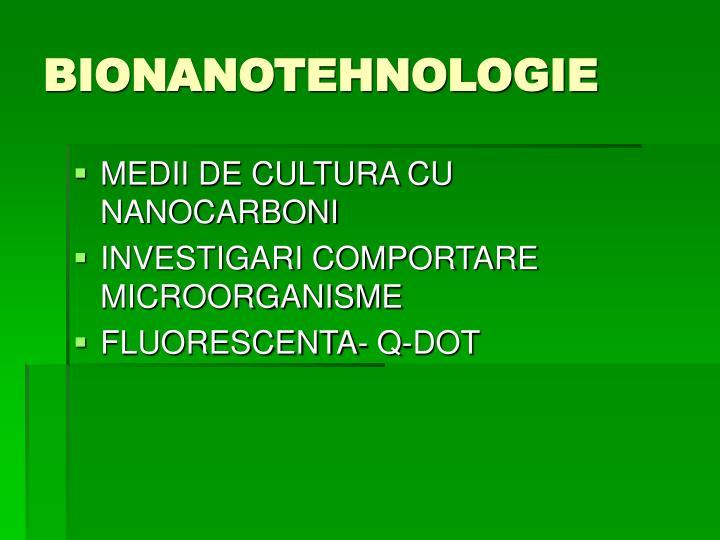 BIONANOTEHNOLOGIE