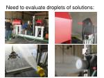 need to evaluate droplets of solutions
