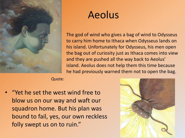Aeolus Bag Of Wind PPT - The Odyss...