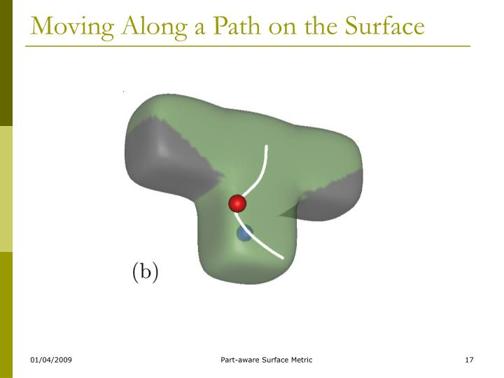 Moving Along a Path on the Surface