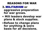 reasons for war2