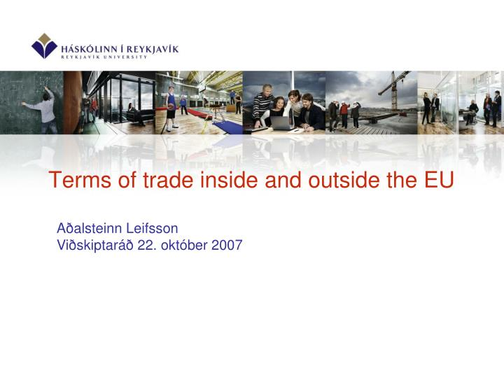 terms of trade inside and outside the eu n.
