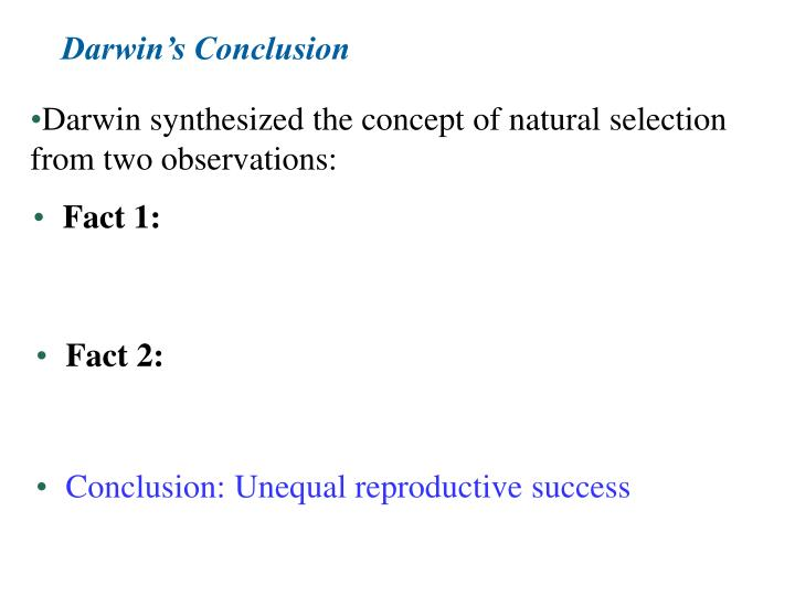 Darwin's Conclusion