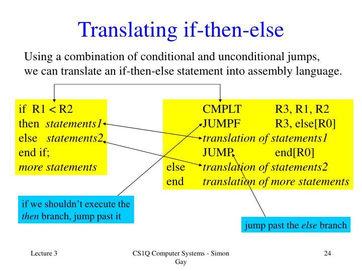 Translating if-then-else