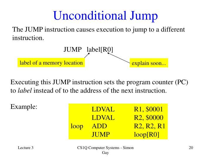 Unconditional Jump