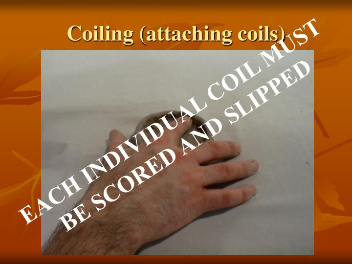 Coiling (attaching coils)
