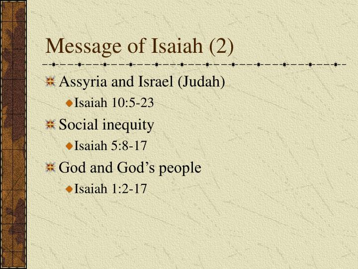 Message of Isaiah (2)