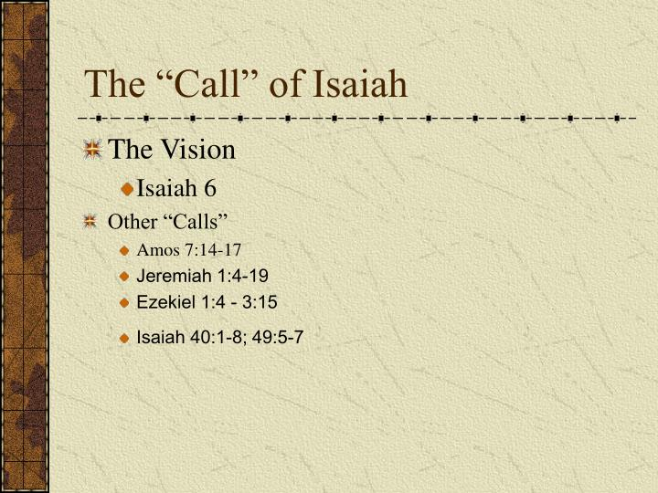 """The """"Call"""" of Isaiah"""