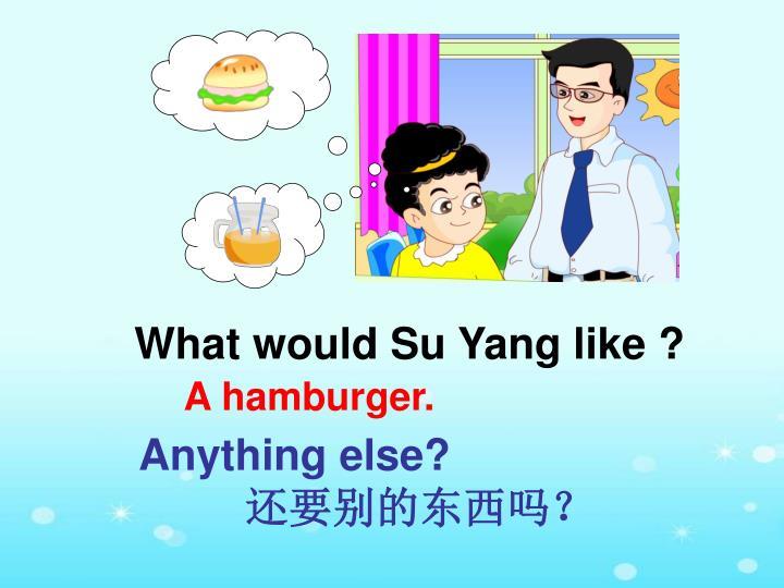 What would Su Yang like ?
