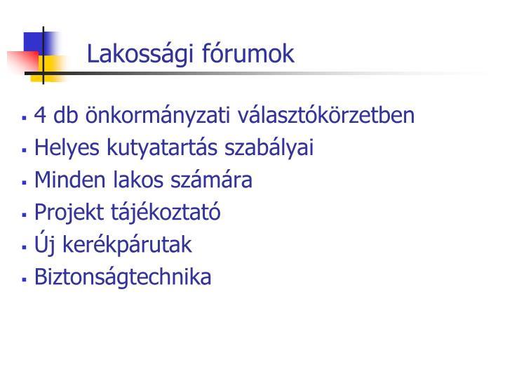 Lakossági fórumok