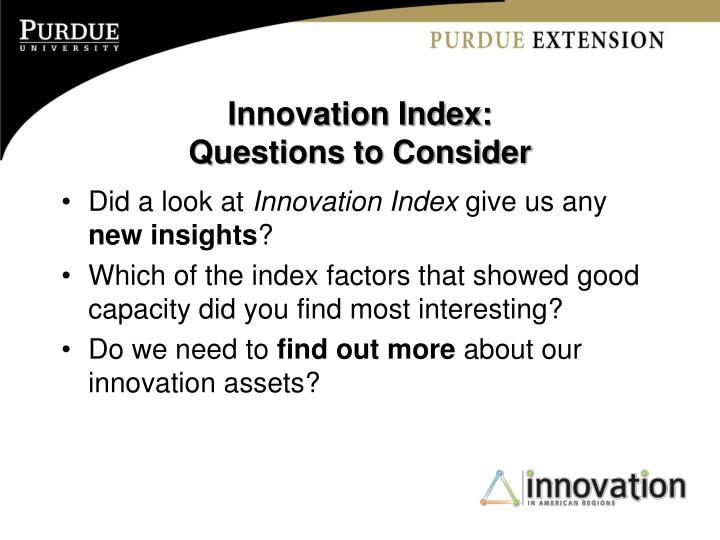 Innovation Index:
