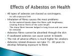 effects of asbestos on health