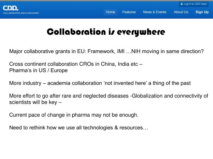 Collaboration is everywhere