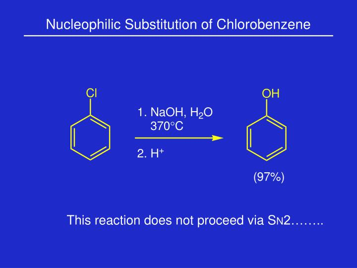 Nucleophilic Substitution of Chlorobenzene