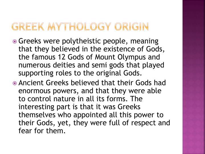 Greek Mythology Origin