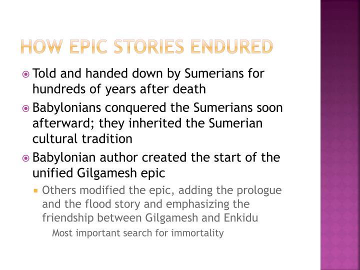 How Epic stories endured