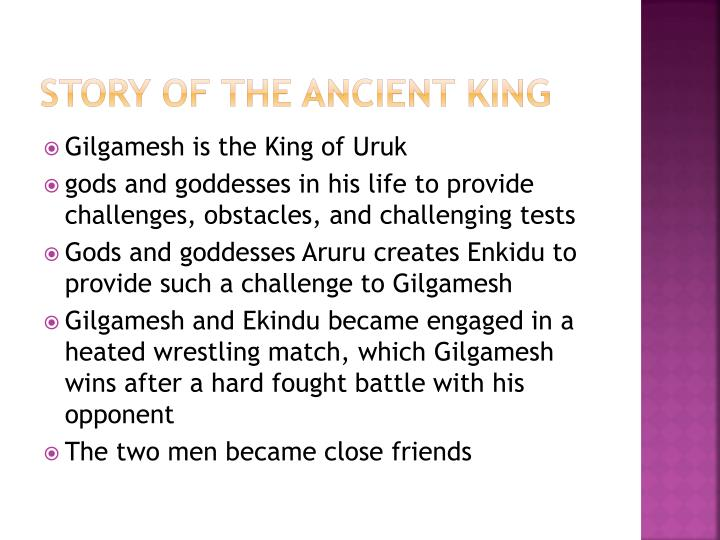 Story of the Ancient king