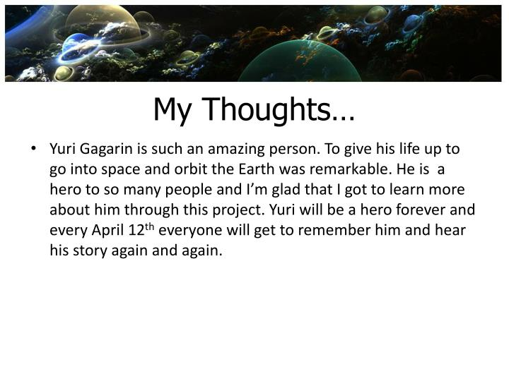 My Thoughts…
