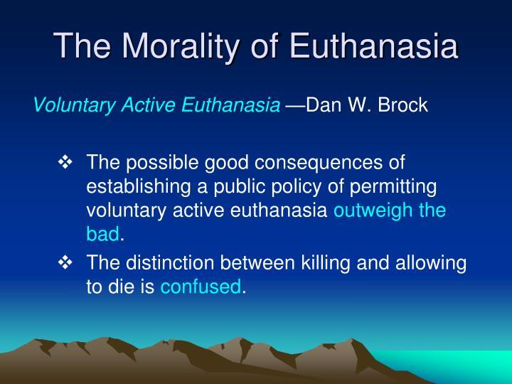 an analysis of euthanasia and morality
