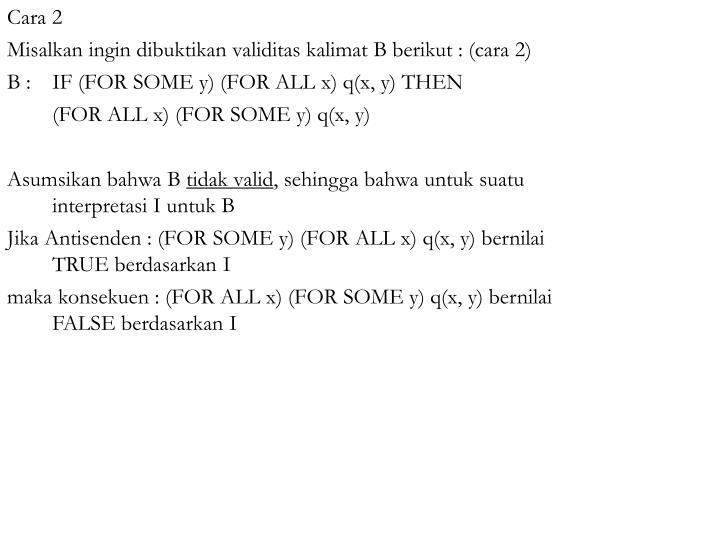 Cara 2