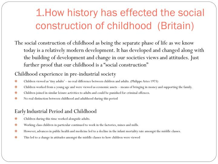 social construction of childhood