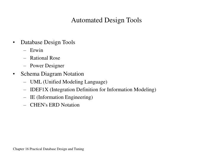 Automated Design Tools