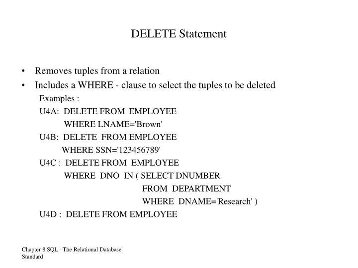 DELETE Statement