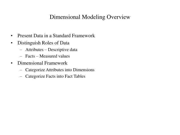 Dimensional Modeling Overview