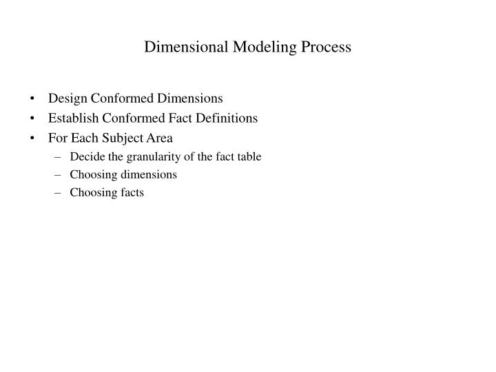 Dimensional Modeling Process
