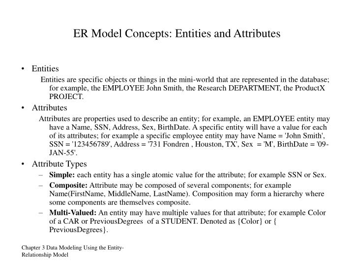 ER Model Concepts: Entities and Attributes