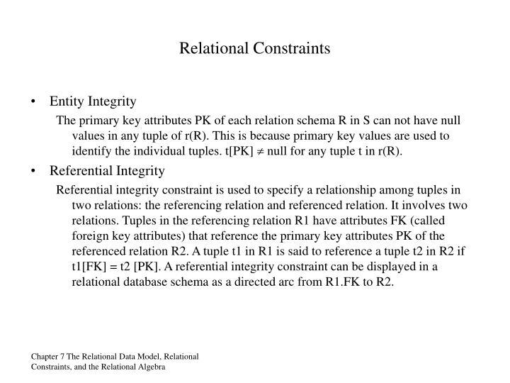 Relational Constraints