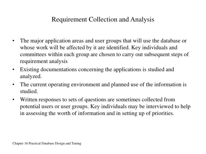 Requirement Collection and Analysis